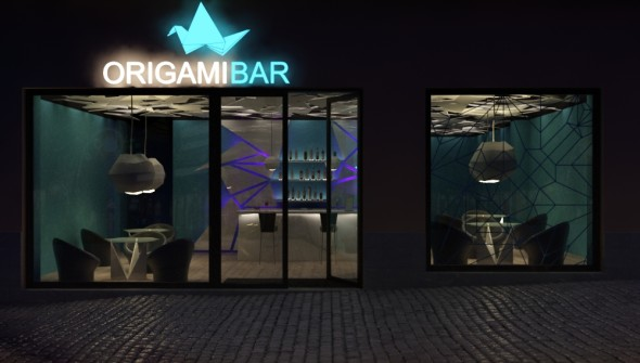 Triline Studio ORIGAMI BAR interiors 01