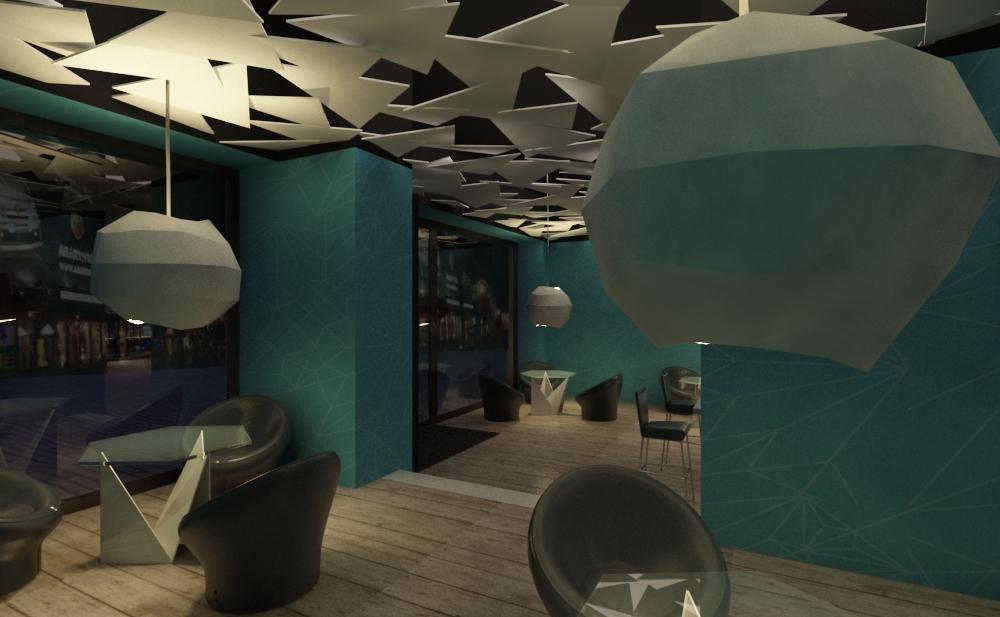 Project Origami Bar Triline Studio Architecture
