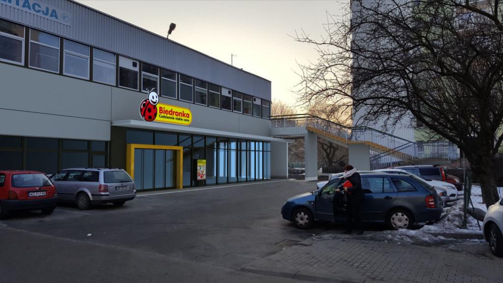 Triline Studio 3D Render Visualization Fuste Biedronka Marii Dąbrowskiej 1