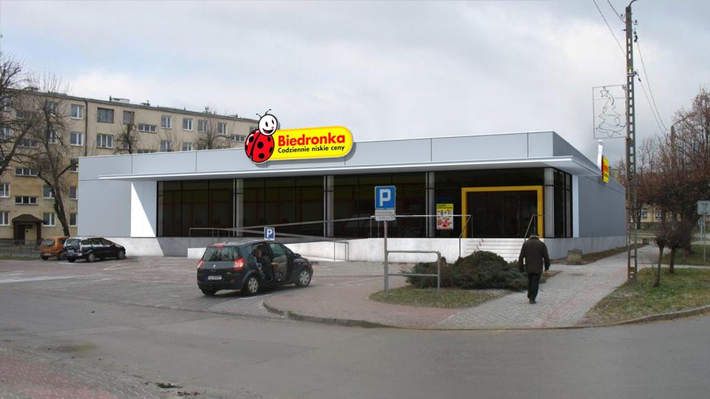 Triline Studio 3D Render Visualization Fuste Biedronka Shop 2